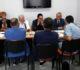 Da sx gli Onorevoli Venittelli, Di Giacomo, Leva e Ruta durante l'incontro con il direttivo dell'Assostampa del Molise