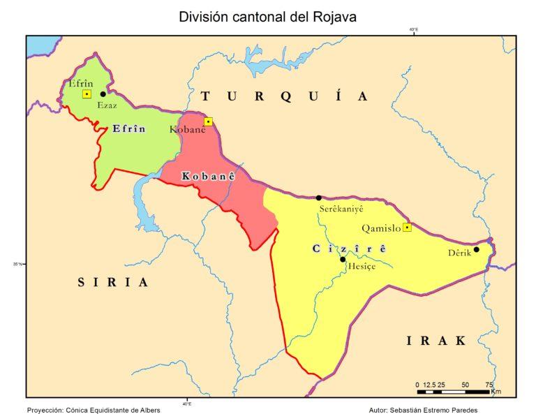 Divisione cantonale del Rojava