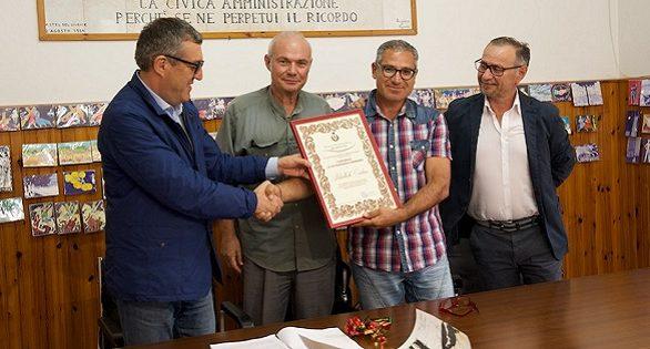 da sx_ Lino Gentile, Antonio Ruggieri, Hikmet Aslan e Tonino Di Salvo