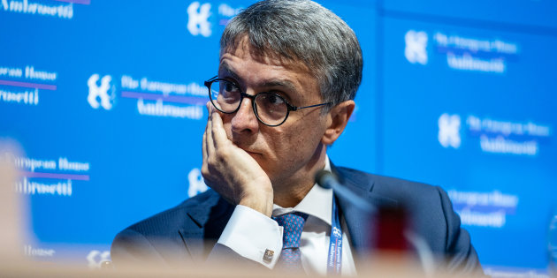Raffaele Cantone, president of Italys anti-corruption authority, listens during theAmbrosettiForum in Cernobbio, Italy, on Saturday, Sept. 8, 2018. The European House-Ambrosetti hosts its annual gathering of policy makers, government ministers and economists at Lake Como through Sept. 9. Photographer: Federico Bernini/Bloomberg via Getty Images